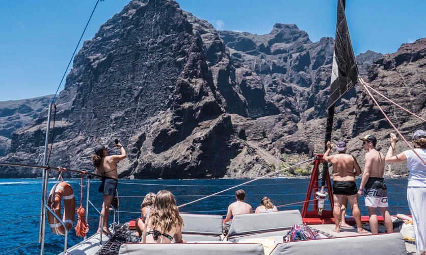 Whale and dolphin watching in Tenerife - cruise for family - Masca