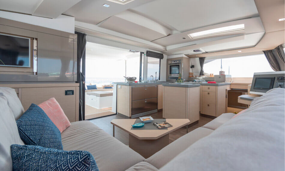 Saona 47 Freebird catamaran - interior design