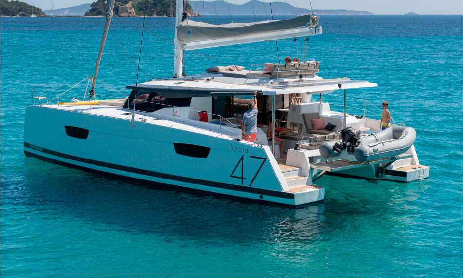 Saona 47 catamaran cruises in Tenerife