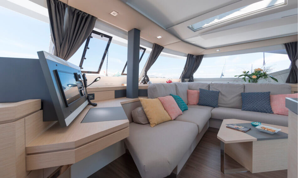 Freebird catamaran Saona 47 interior design