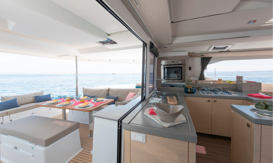Catamaran Saona 47 in Tenerife - kitchen interior design